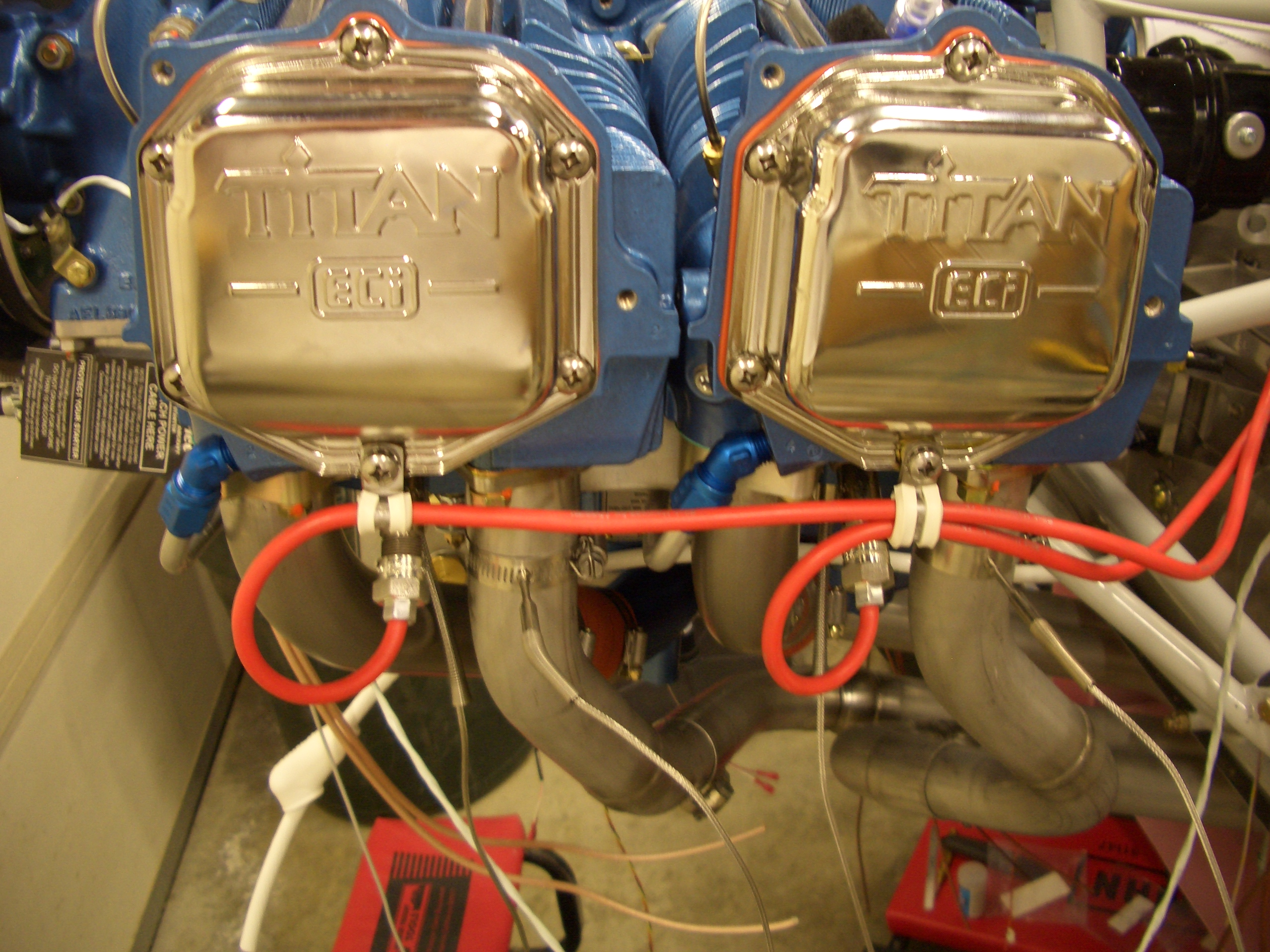 Installed Spark Plug Wire Clamps and Forward Elevator ... on installing ignition coil, installing pistons, installing camshaft,